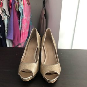 ALDO golden sparkle high heels